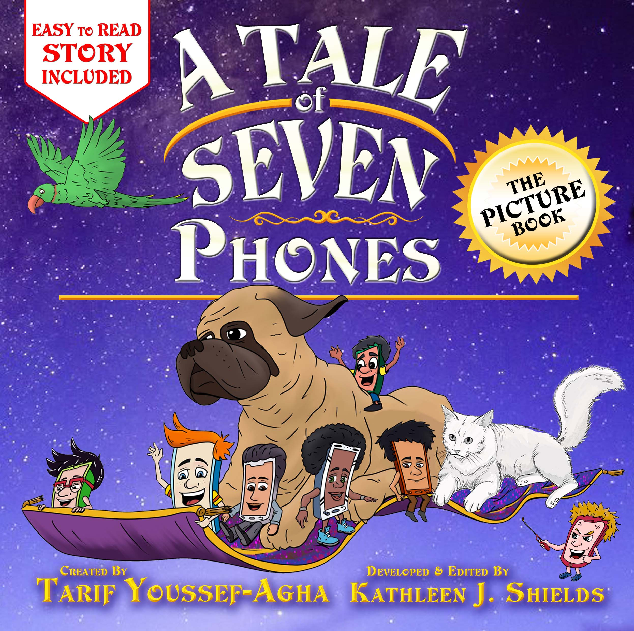 A Tale of Seven Phones, The Picture book by author Tarif Youssef-Agha